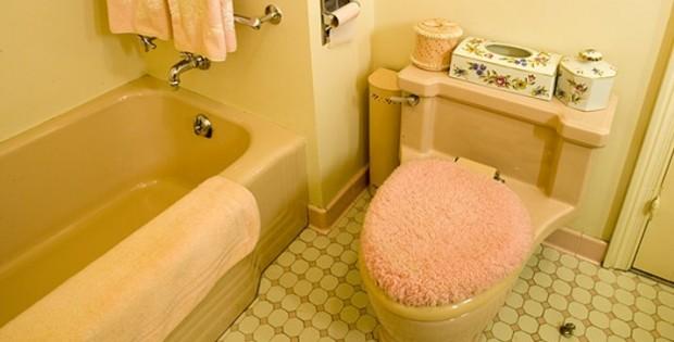 Merveilleux ... Mamie Eisenhower Pink Bathroom Gettysburg 620x315 ...