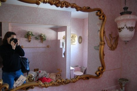 Time capsule pink bathrooms